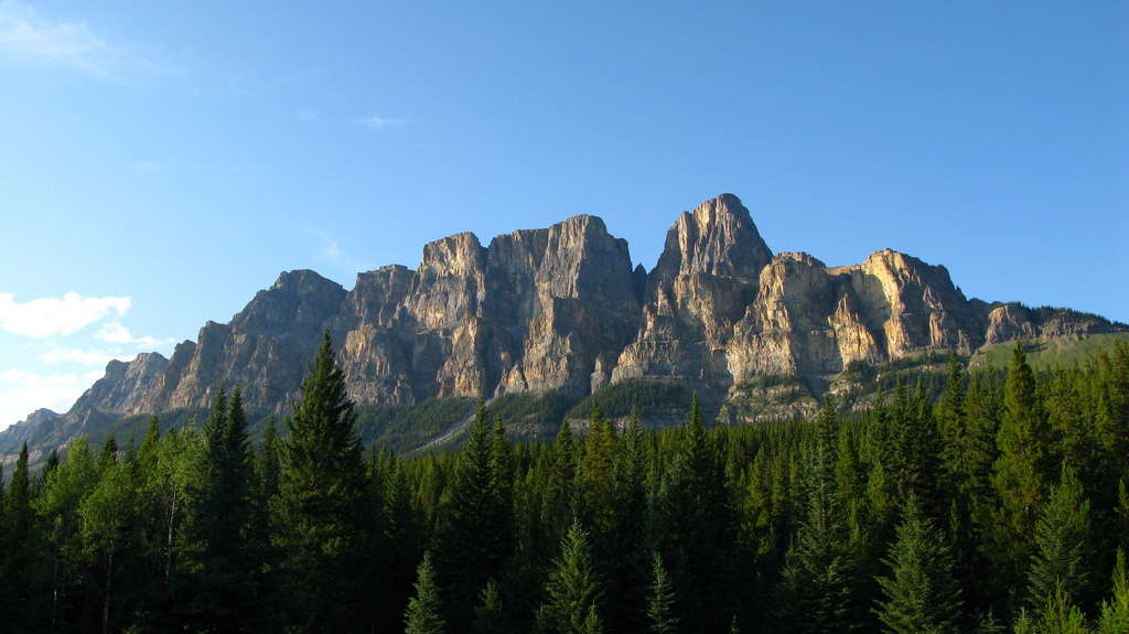 Castle Mountain- Majestic Mountain Majesty.