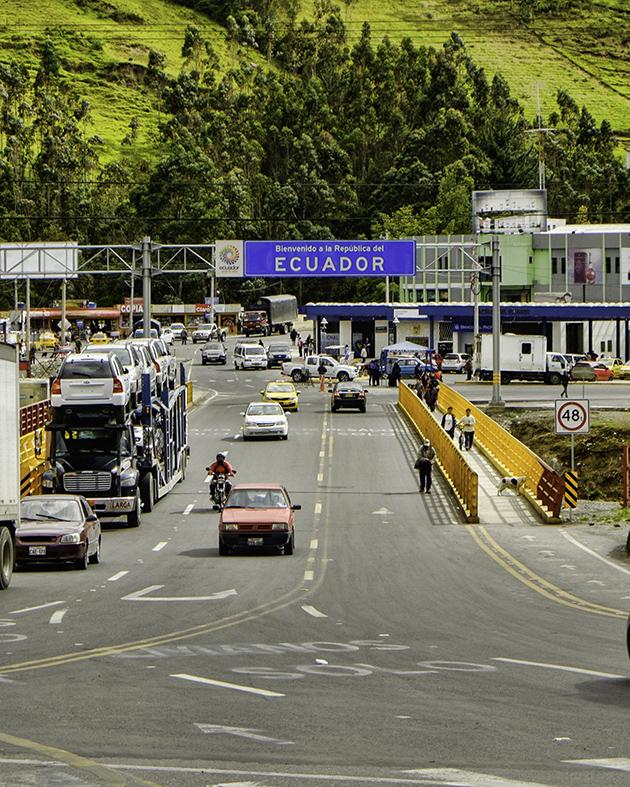 Ecuador Border Otavalo Market