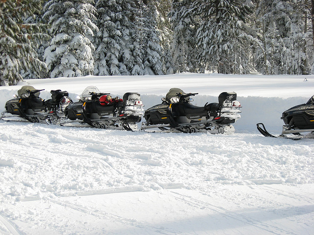 Snow Mobiles South Lake Tahoe winter