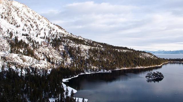 south lake tahoe winter emerald bay