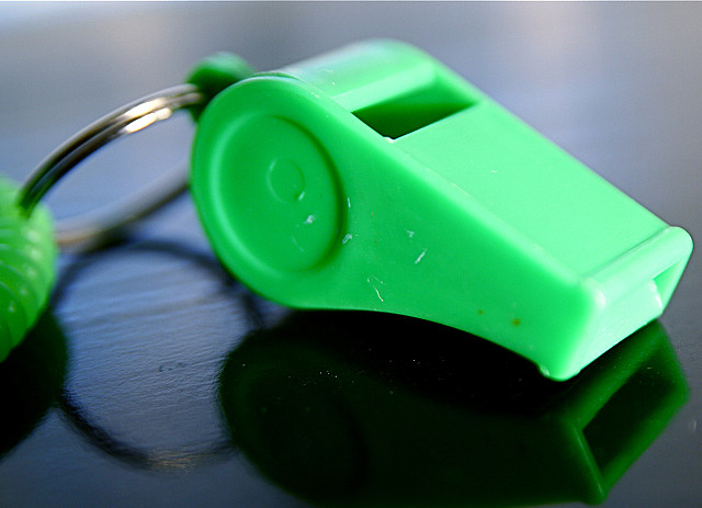 Tips to help lost kids- carry a whistle