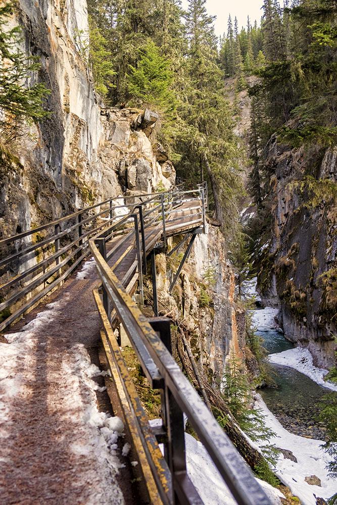 Johnsons Canyon catwalk- alberta family getaways