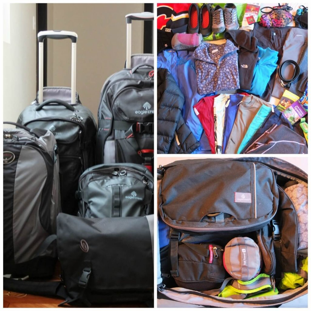 Packing our bags - How to travel long term with kids