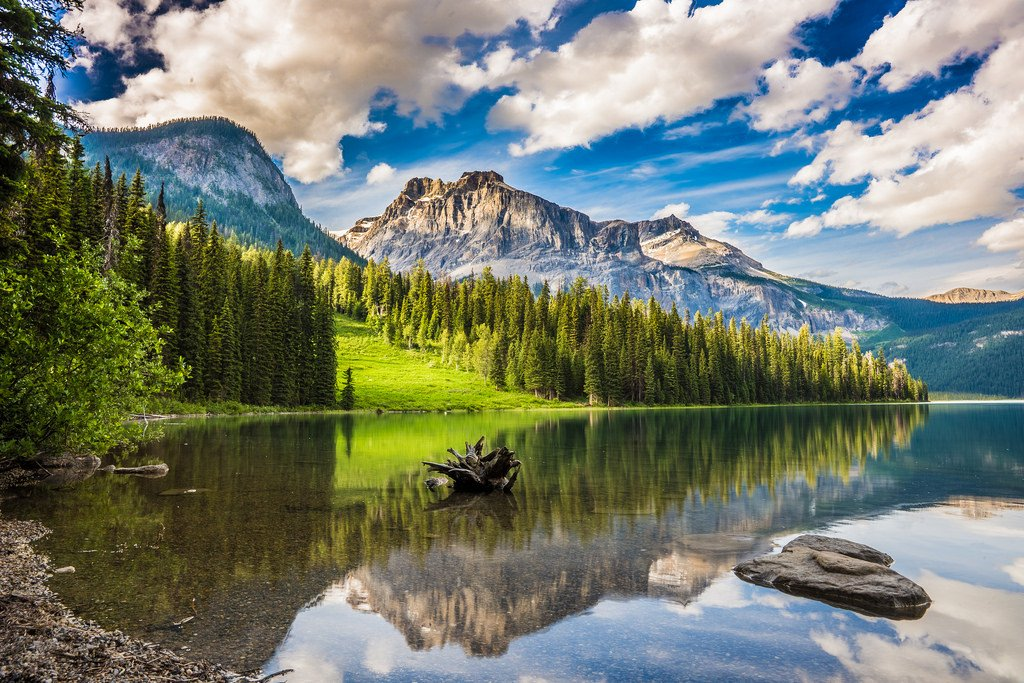 Canada's national parks- Emerald Lake in Banff National Park