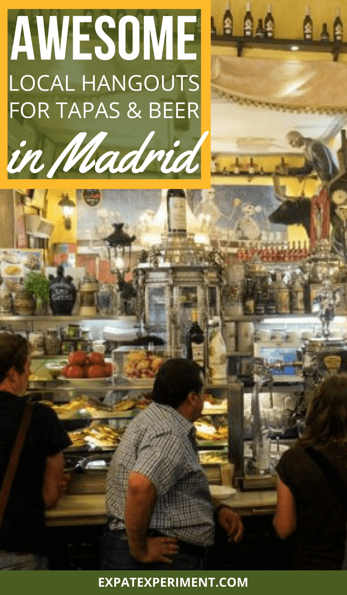 Tapas and beer Madrid- The Expat Experiment