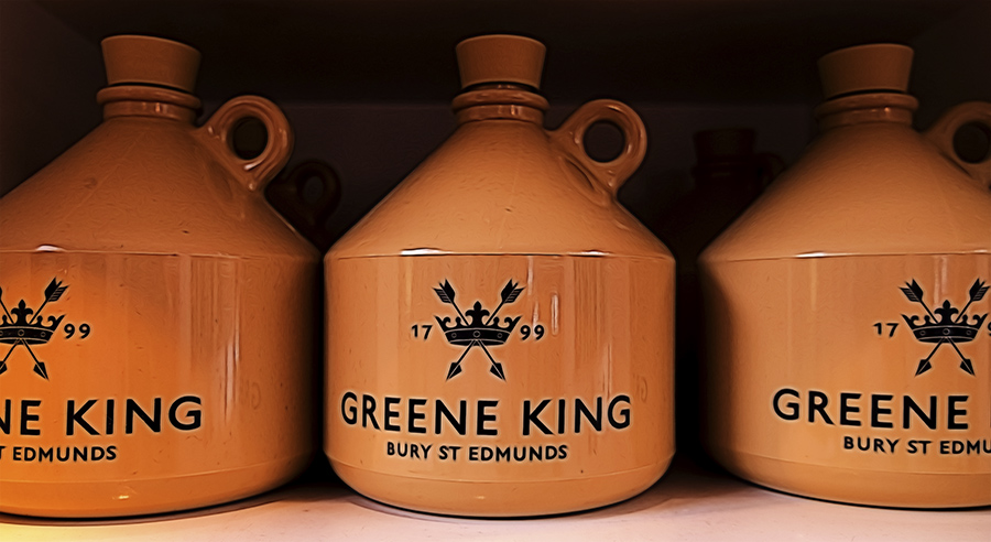 Greene King beer jugs