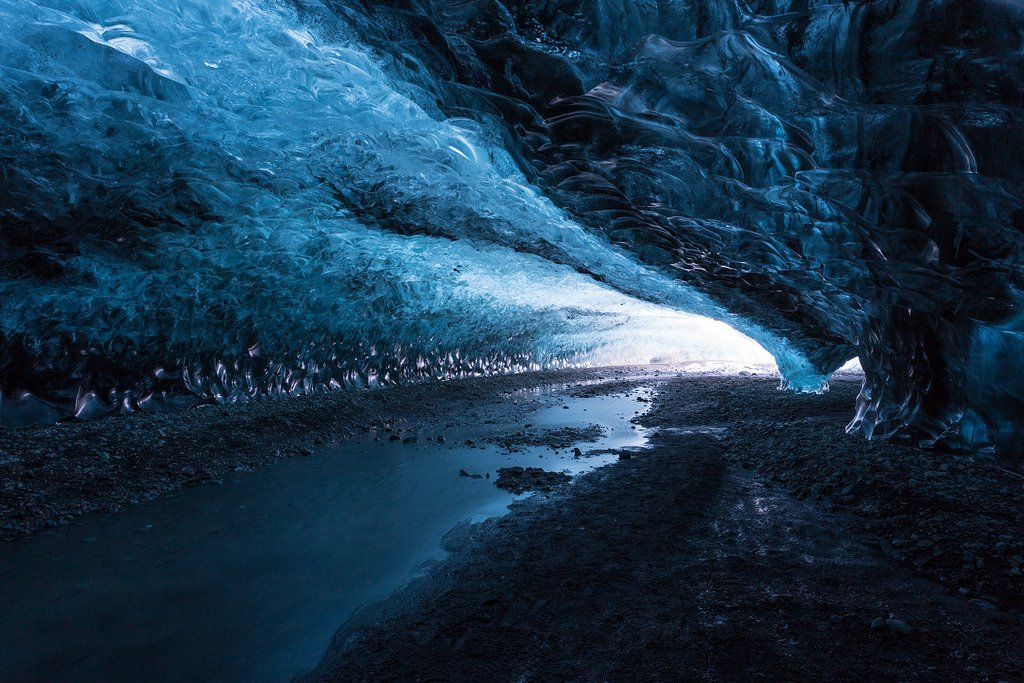 Ice caving under the Vatnajökull Glacier- When to visit Iceland with kids