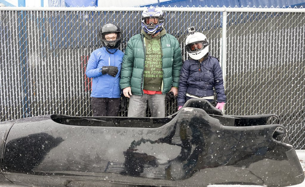 Public bobsleigh Calgary- Photo before the ride