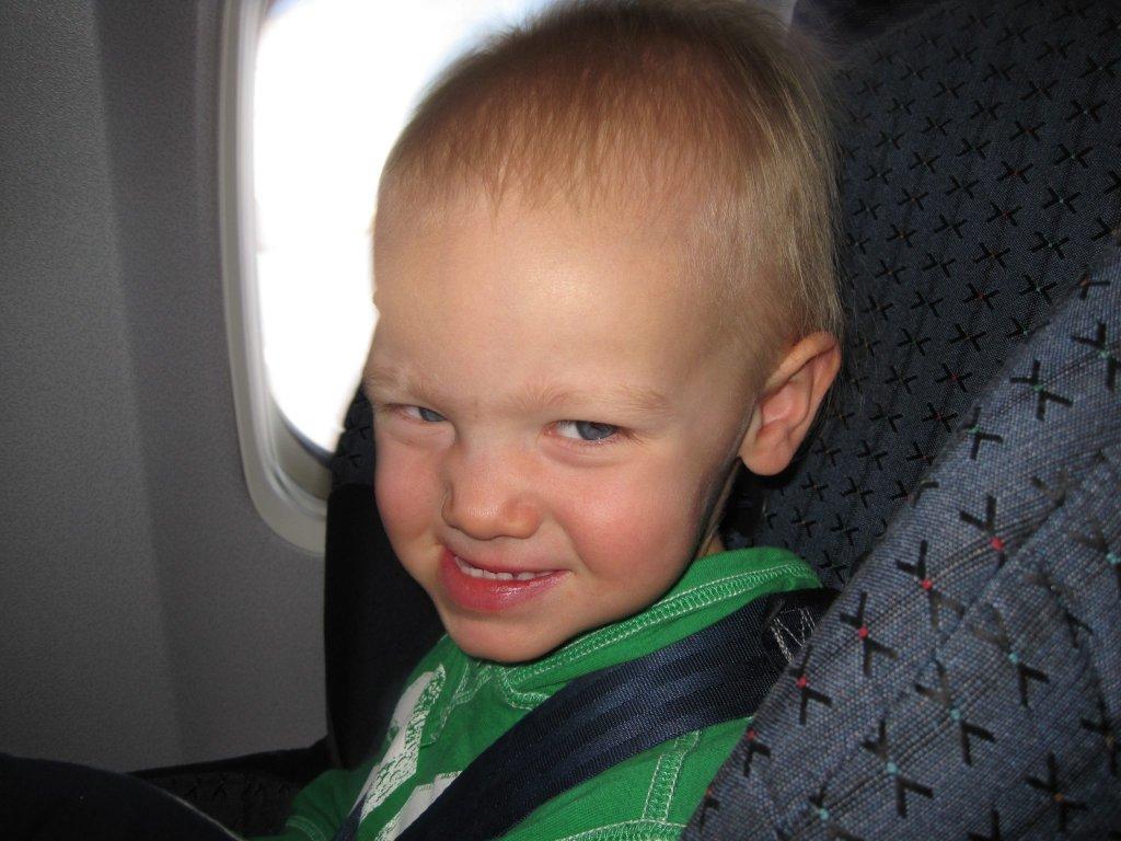 Mak's second flight- how kids make travel better