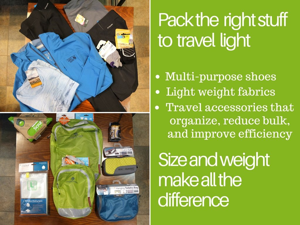 How to travel with carry on luggage- pack the right stuff to travel light