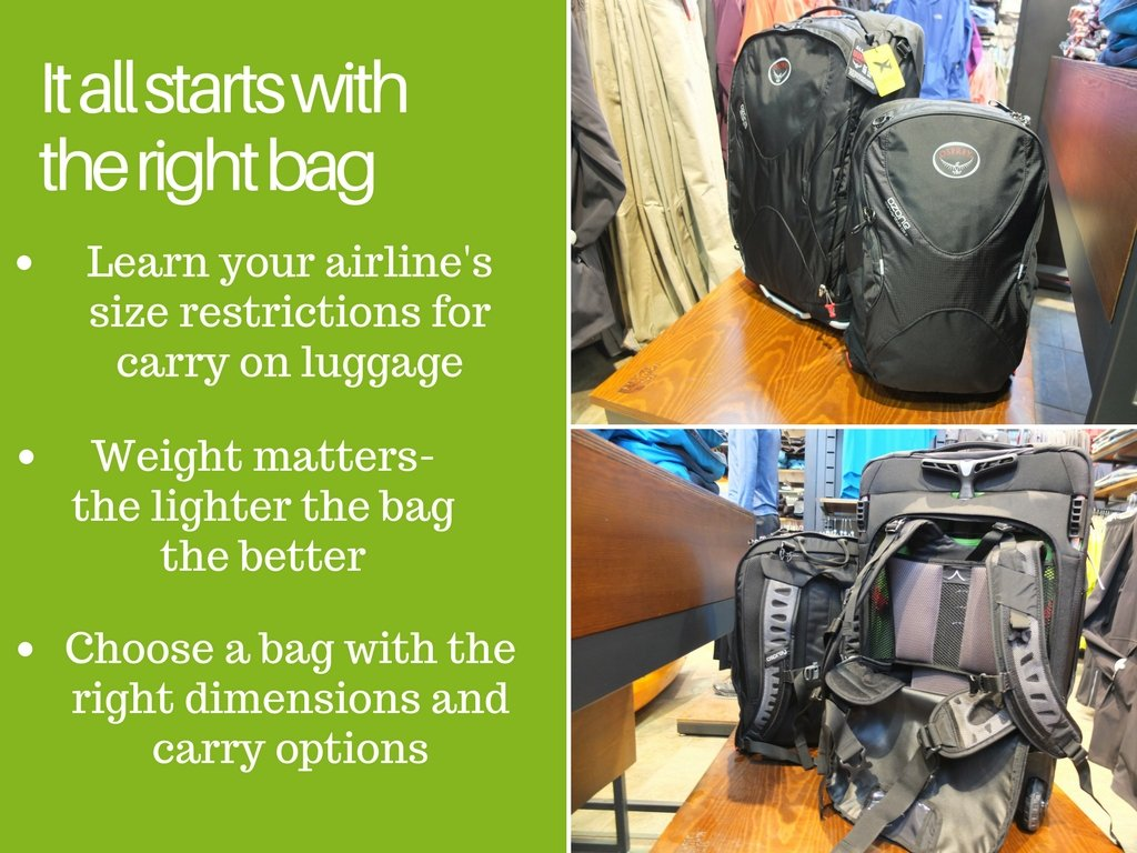 How to travel with carry on luggage- choose the right bag