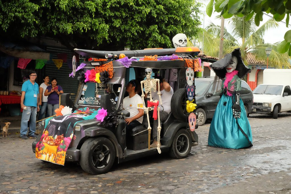 Death Comes Alive on The day of the Dead in Puerto Vallarta