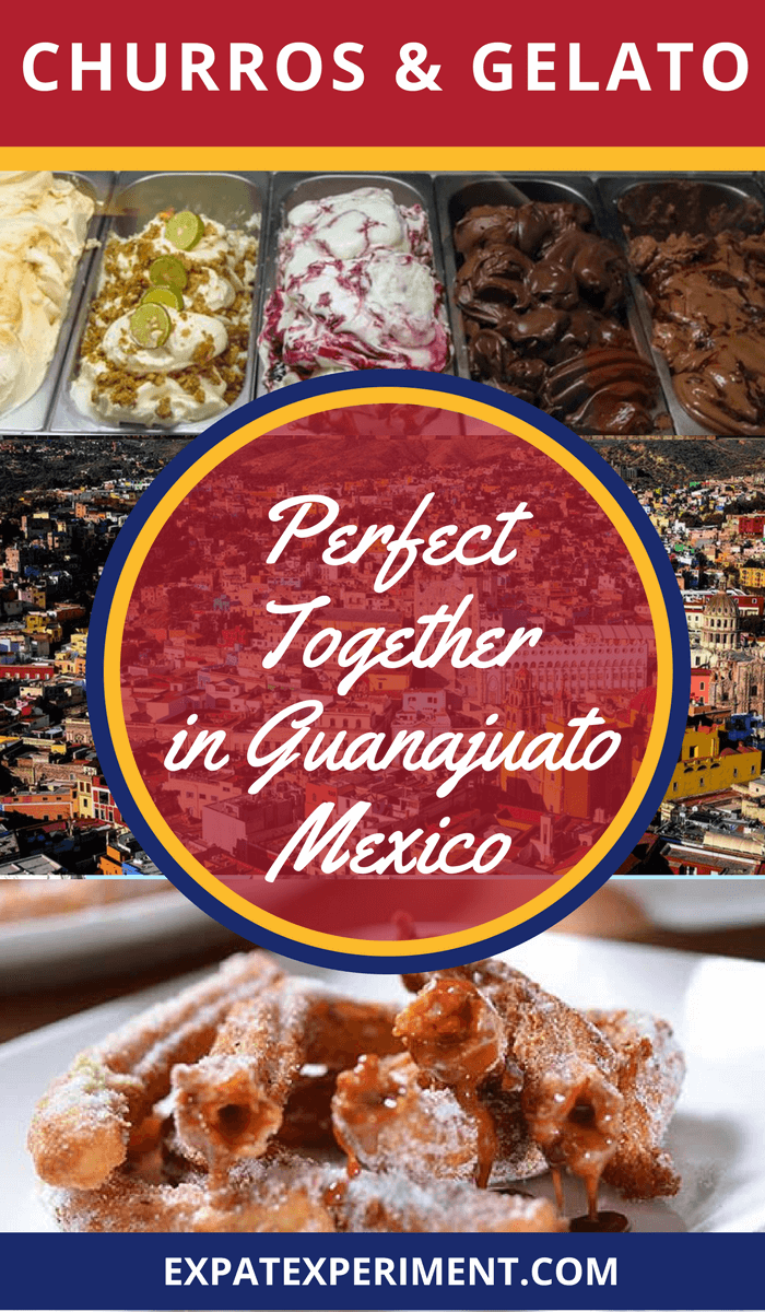 Churros, Gelato Together- best churros in Guanjuato- The Expat Experiment