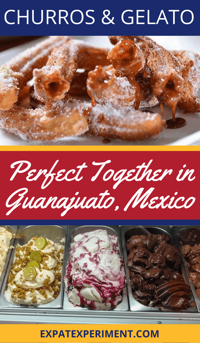 Churros and Gelato- best churros in Guanjuato- The Expat Experiment