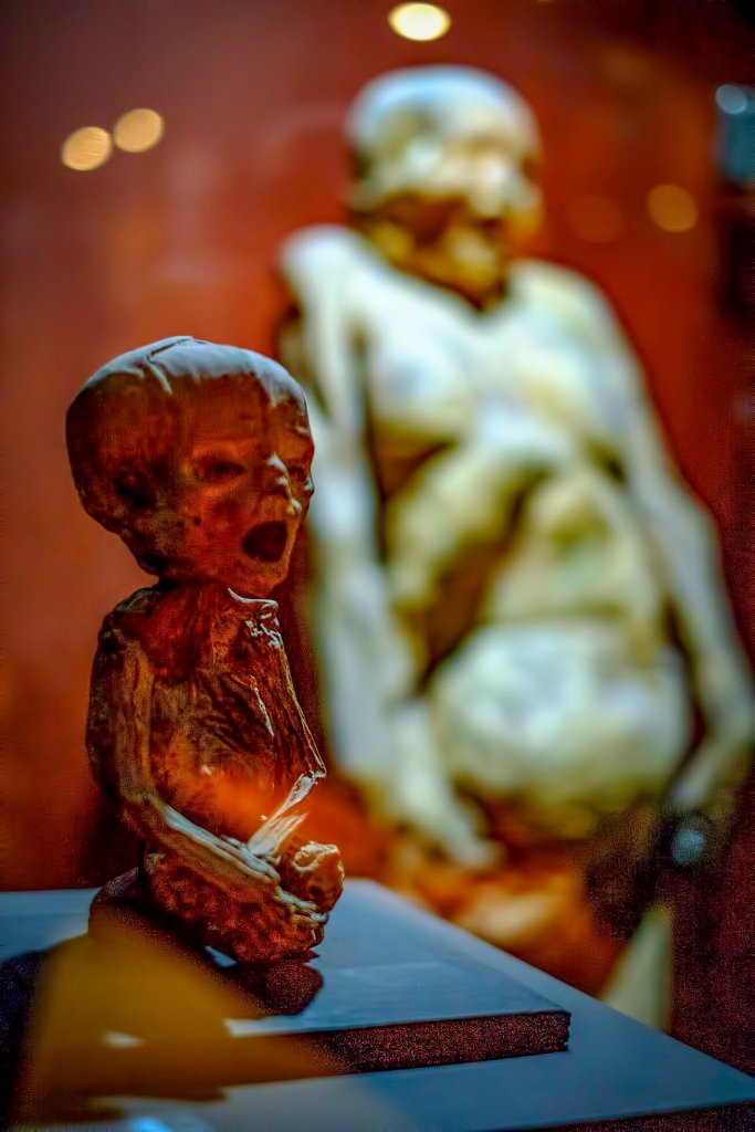 This is the youngest mummy in the world at Museo de las Momias de Guanajauto- The Mummy Museum in Guanajuato