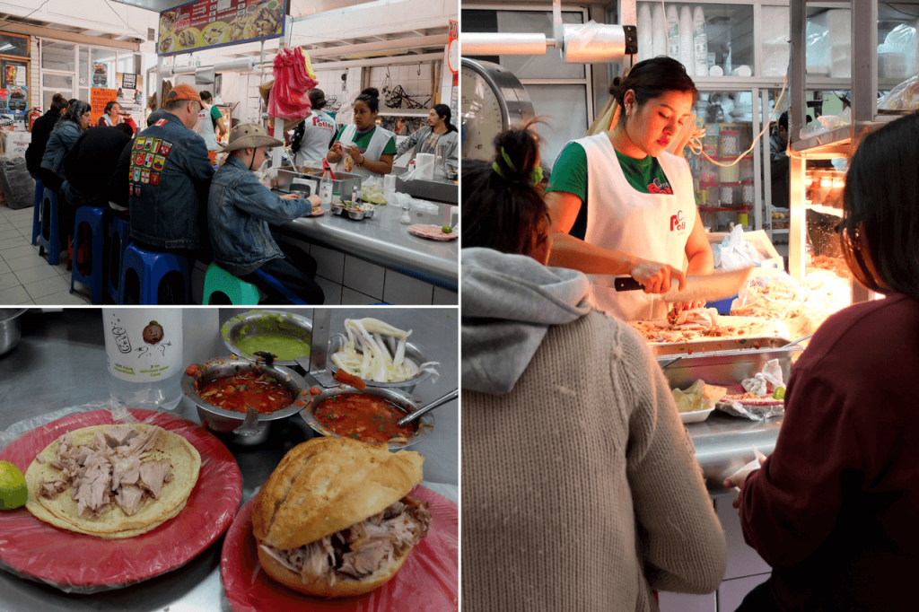 Want to know where to eat in Guanajuato? Carnitas Latan in Embajadores Market In Guanajuato, Mexico.