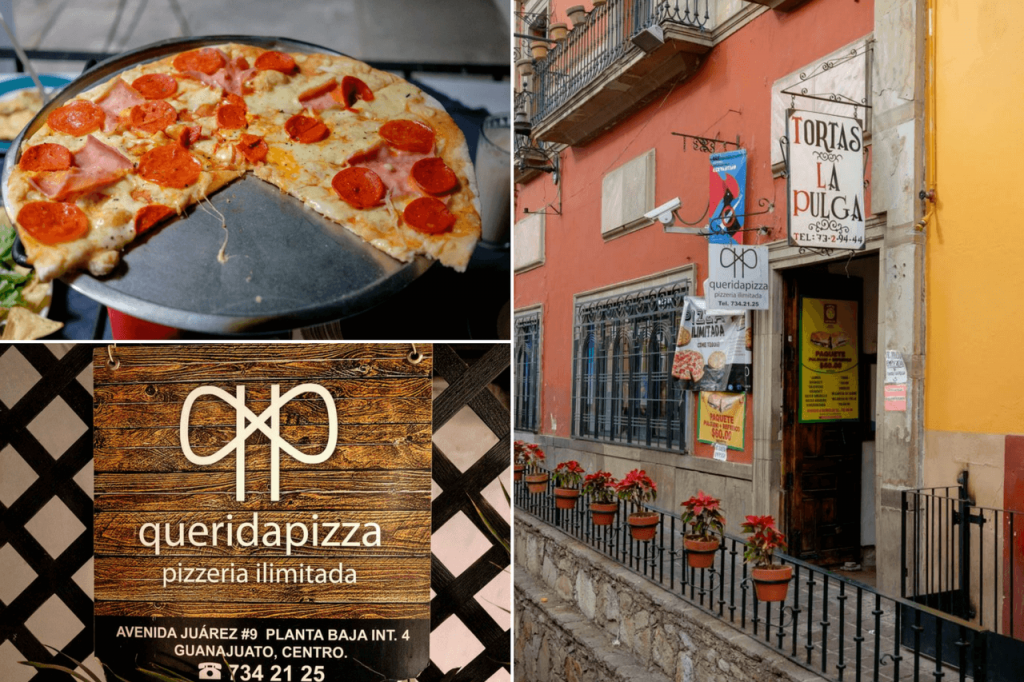 Queridapizza Pizzeria Ilimitada is where to eat in Guanajuato if you love pizza and need to feed a large crowd!