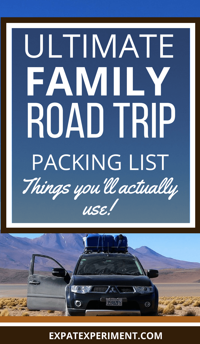 ultimate family road trip packing list- Photo of an s.u.v. with one door open in a field Bolivia